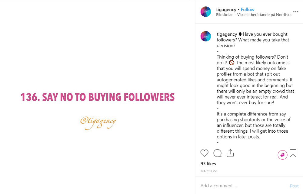 Buying Instagram followers the wrong way