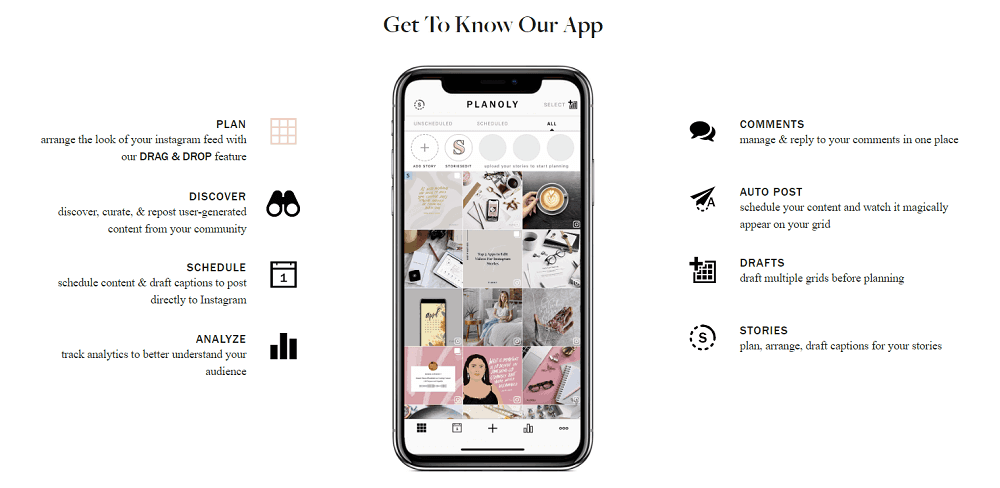 Planoly app features