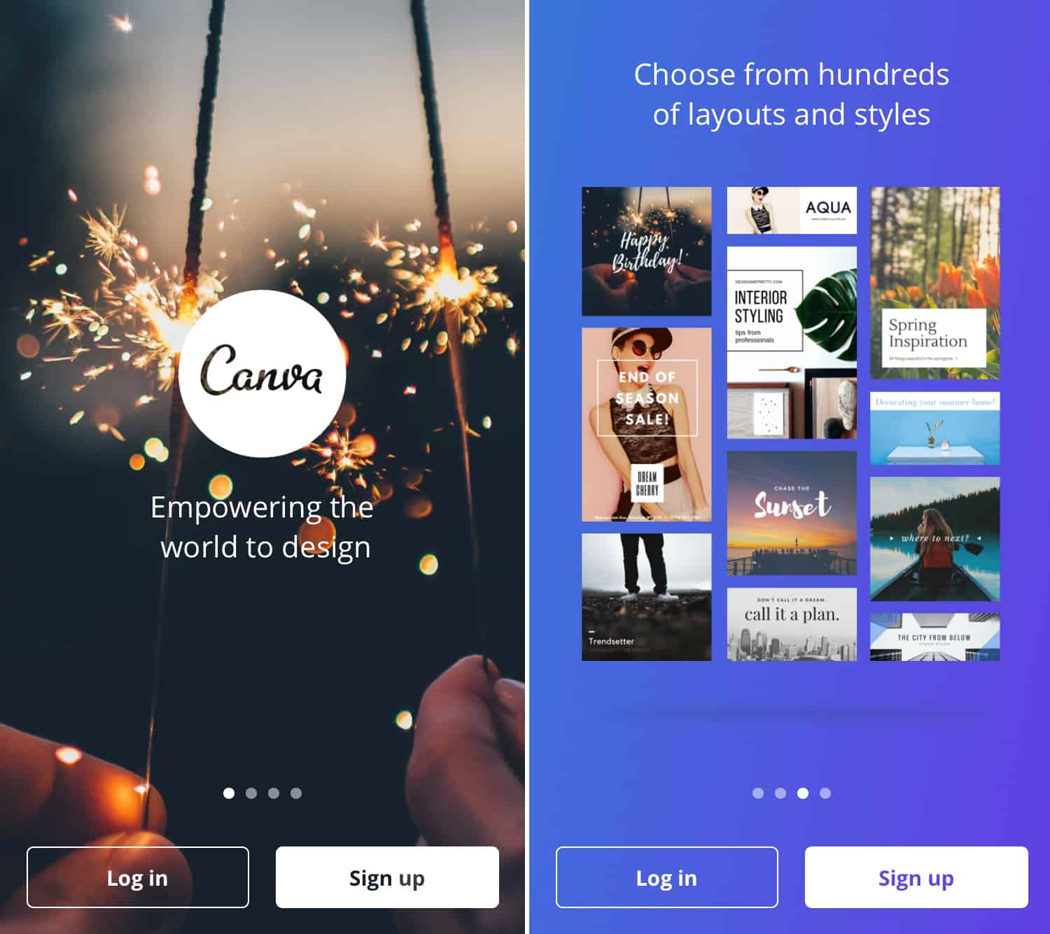 Canva free instagram template