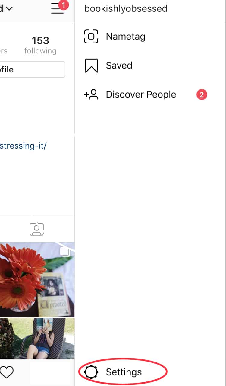 Instagram business account step 1