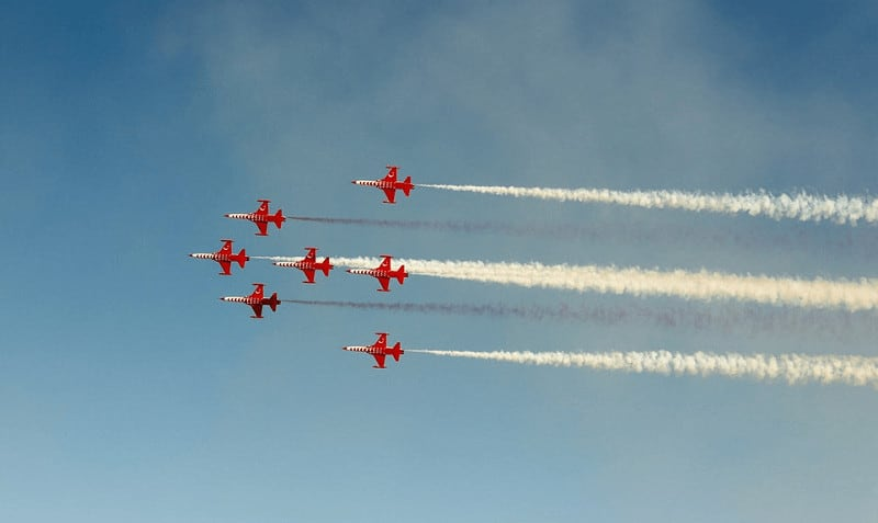 Red airplanes