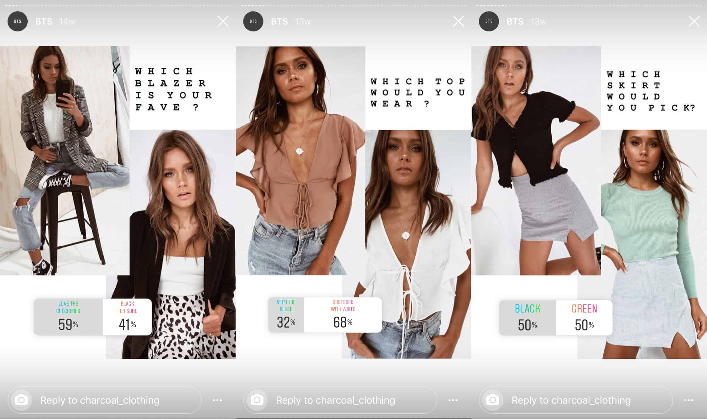 charcoal clothing instagram story templates