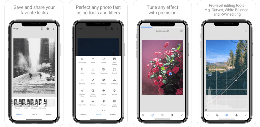Snapseed app features - Apple Store