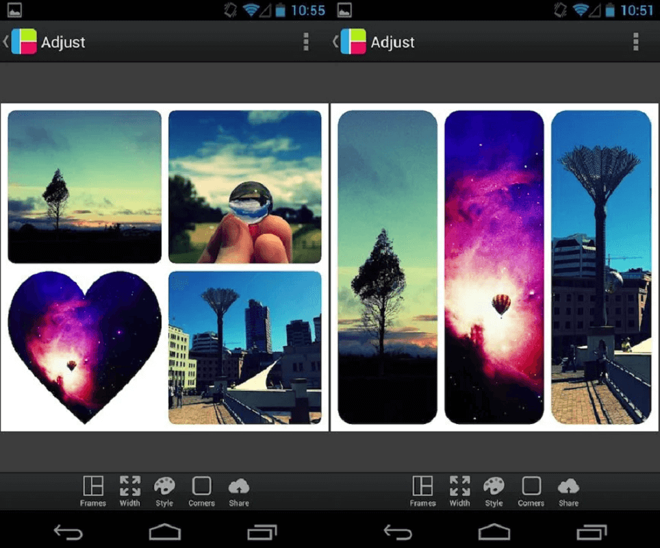Picframe features - Google Play store
