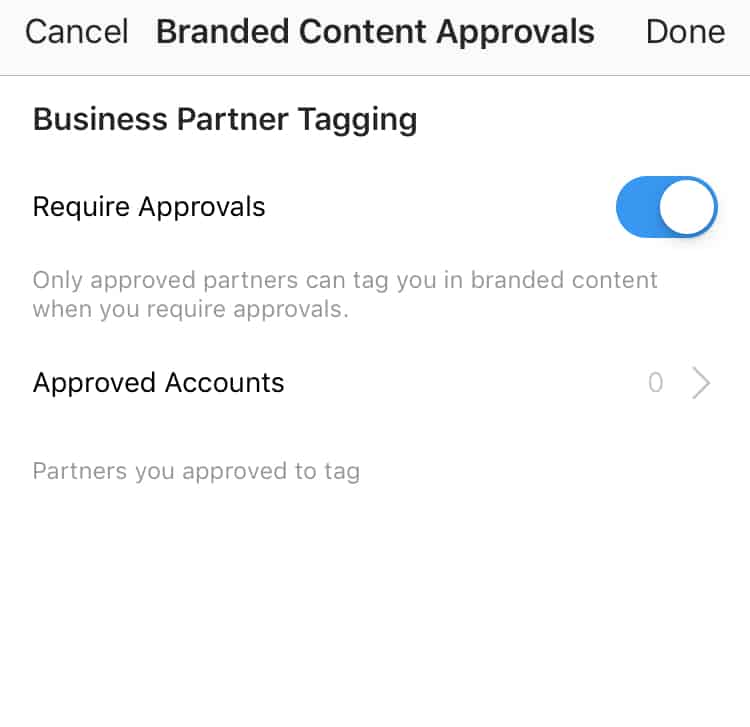 How to enable brand content approvals