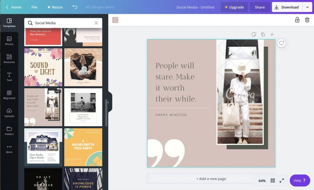 Create Social Media Quotes with Canva