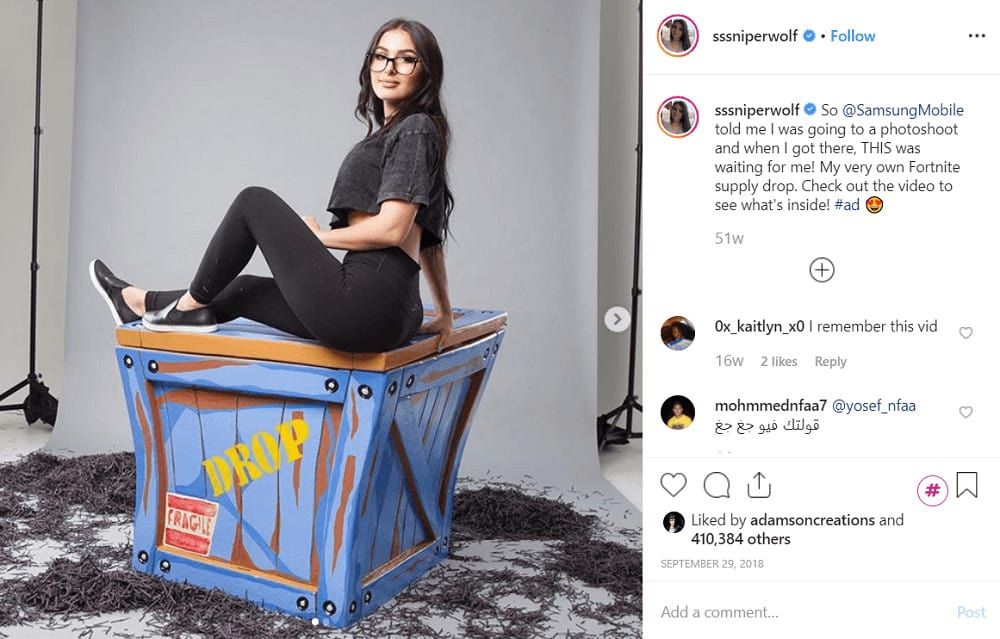 How to get sponsored on Instagram - @sssniperwolf