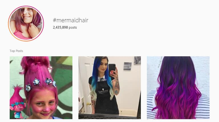 #MermaidHair search on Instagram