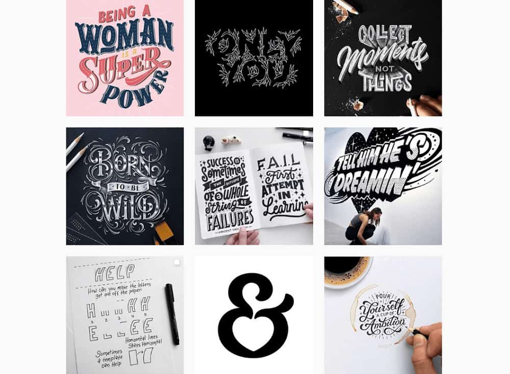 Who to follow on Instagram - typographyinspired