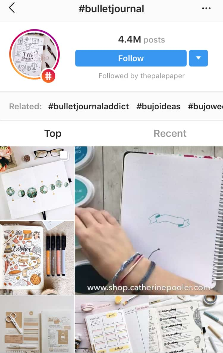 how to follow Instagram tags step 2