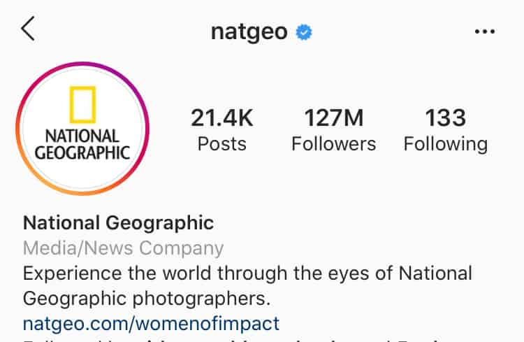 Instagram profile image should fit in the circle