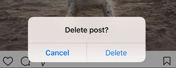 Delete Instagram post