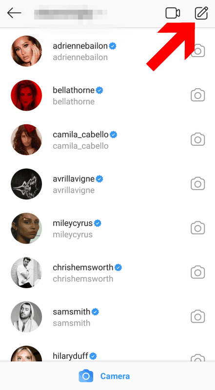 How to start an Instagram chat