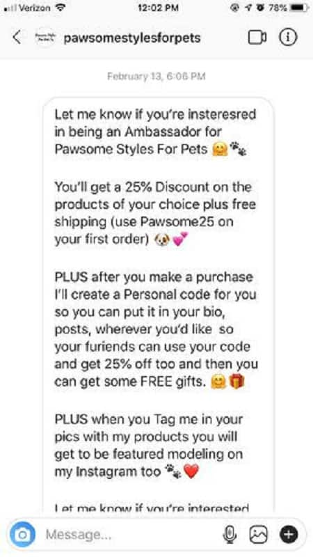Instagram - brand deals through direct message (G2 Learning Hub)