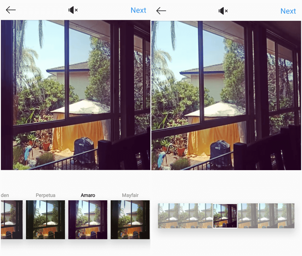 Instagram video requirements - adding filters and editing thumbnail