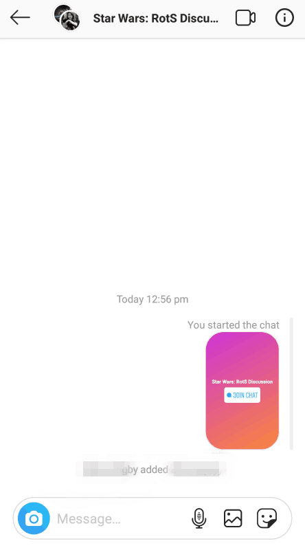 Instagram - new Story chat