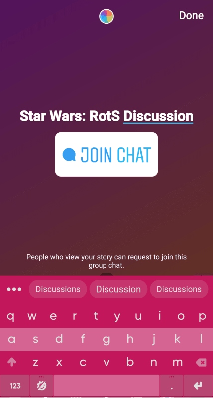 Instagram Story Chat - enter a title