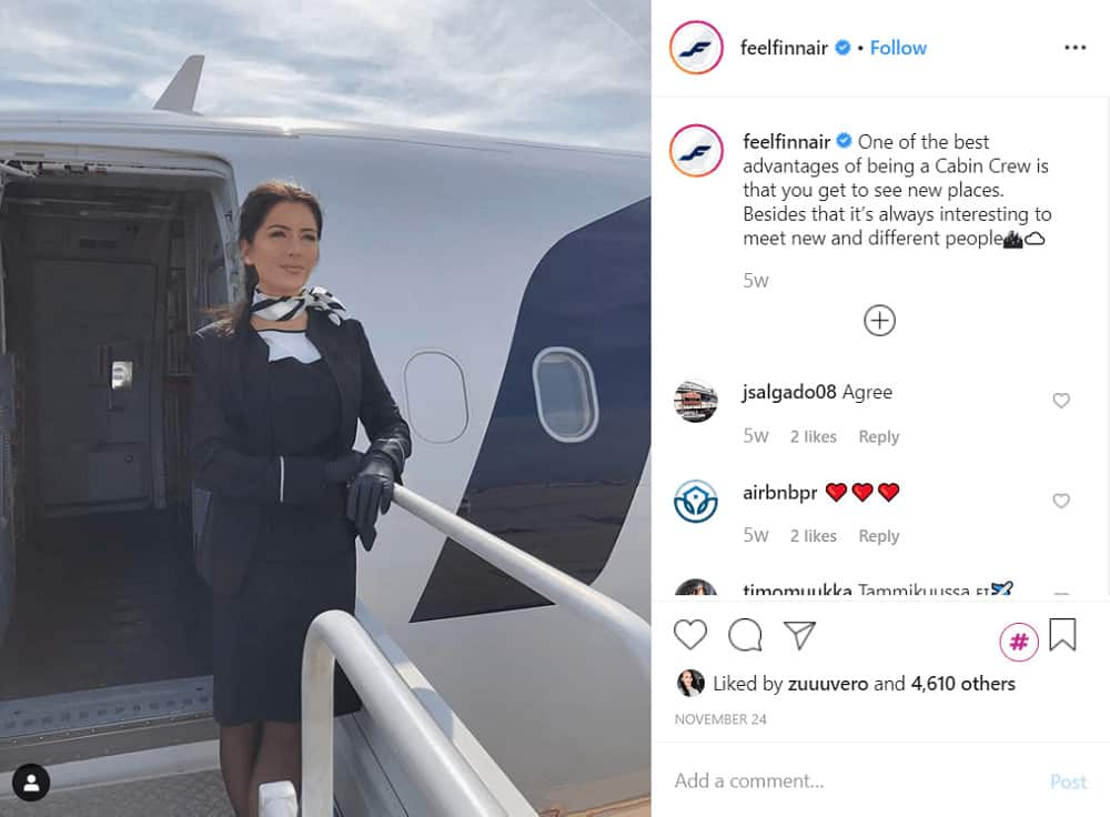 Instagram takeover example - Finnair (@feelfinnair)