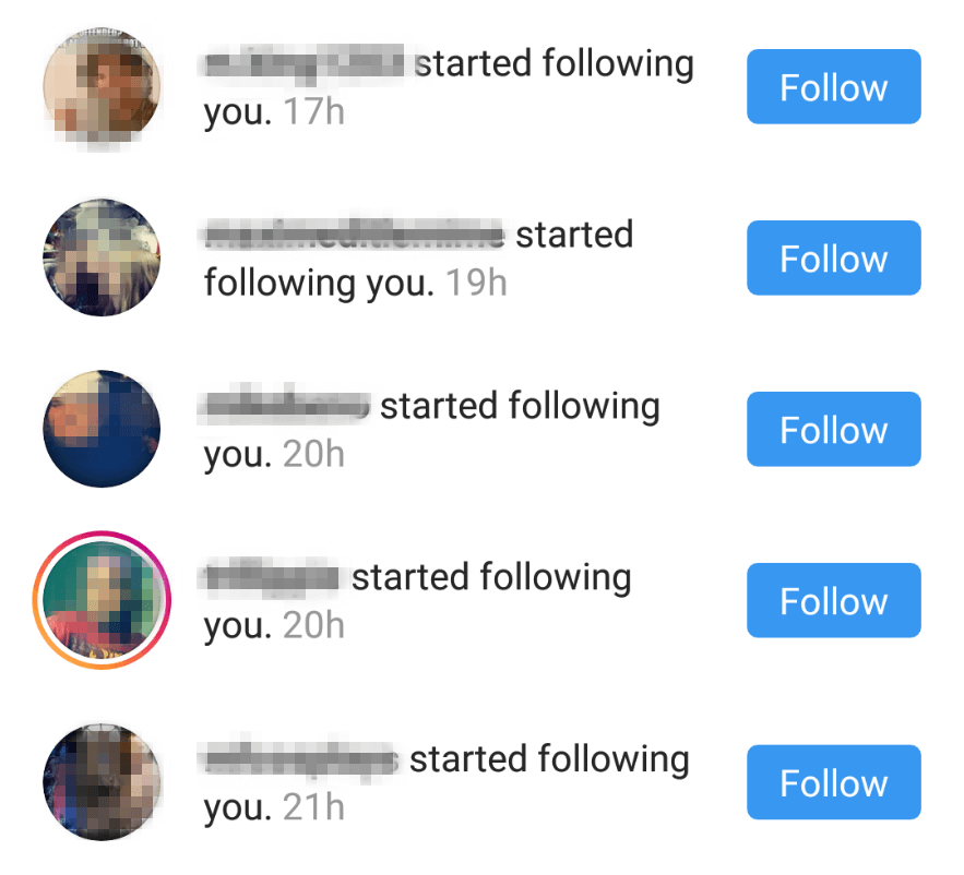 Follow notifications