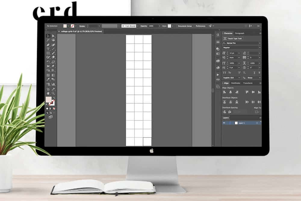 Creating an Instagram banner grid on Illustrator (The Preview App)